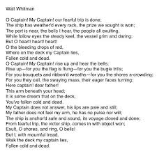 best captain my captain ideas oh captain my  o captain my captain walt whitman this is one of my favourite poems