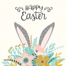 Easter Template Happy Easter Template Vector Premium Download