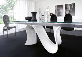 contemporary glass dining room tables
