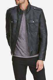 image of andrew marc bruckner faux leather jacket
