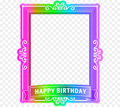 birthday picture frame blue wedding happy birthday frame multicolor png clip art