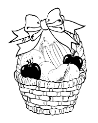 bba2ba9a20cdb4ab1cb7185a9434d8a6 fruit basket in your decorate with ribbon coloring page for kids on coloring pages of fruits in a basket