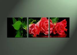 red flower wall art canvas