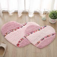 45x50 50x65cm past fl love heart shaped rug door mat bedroom carpet entry mat bathroom
