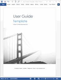 Microsoft Word Study Guide Template User Guide Templates 5 X Ms Word