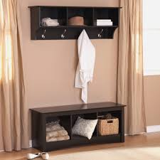 Wooden Coat Rack With Bench Bench Hall Tree Storage Bench With Baskets Attractive Cherry 63