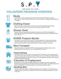 Volunteer Opportunities Spy