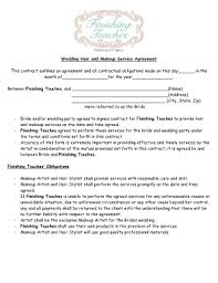 gallery of makeup contract template