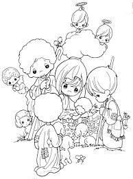 Precious Moments Christmas Nativity Coloring Pages Nativity Scene