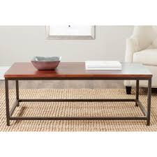 safavieh alec distressed maroon coffee table