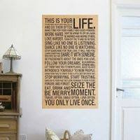 home office wall art. World Popular Quote This Is Your Life Vintage Poster Paintinginspirational Words Kraft Paper Wall Stickers Home Office Art