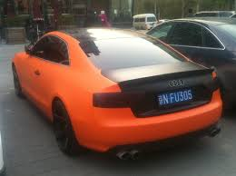 matte black audi a6. audi s5 coupe is matte orange u0026 black in china a6