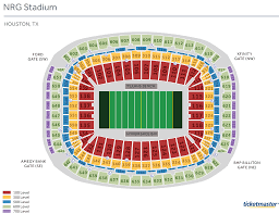 Reliant Stadium Seating Chart With Rows Bedowntowndaytona Com