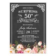 surprise birthday party invite chalkboard surprise party invitation man or woman zazzle com