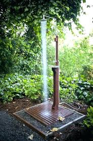 showers simple outdoor shower showers plans easy garden ideas install gravel design o