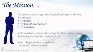how to write college mission statements