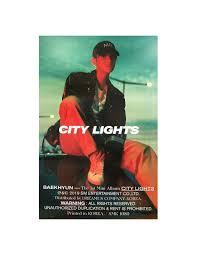 City Lights Poster Baekhyun Poster Baekhyun 1st Mini Album City Lights Night Ver Poster