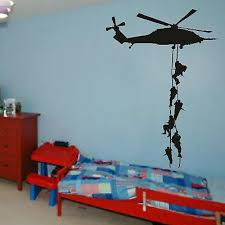 Delightful Military Vinyl Decor Wall Sticker Helicopter Wallpaper For Boys Army Room  Art Decoration Removable Free Shipping Wallpaper Y 626