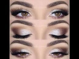 silver brown warm soft cut crease smokey eye makeup tutorial