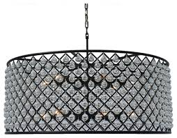 cassiel round drum crystal chandelier extra large black