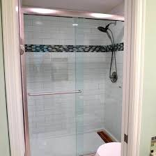 glass accent tile subway tile designs exciting shower with subway tile and glass mosaic glass accent tiles backsplash