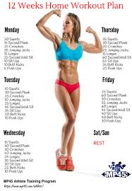 the ultimate 12 week home workout plan for beginners muscle fitness