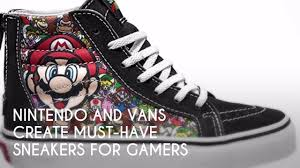 vans nintendo shoes. nintendo and vans create must-have sneakers for gamers | sneaker x9 vans nintendo shoes
