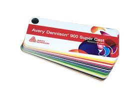 Avery 900 Supercast Colour Chart Avery Dennison 900 Super Cast Films Coloured Film