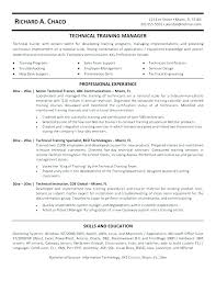 Non Technical Trainer Job Description Corporate Resume Profile Of ...