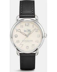 shop men s coach watches from 126 lyst coach delancey stainless steel sunray dial leather strap watch lyst