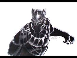 Come Disegnare E Colorare Black Panther Youtube