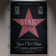 Star Party Club Flyer Psd Template Psdmarket