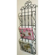 hanging magazine rack. Brilliant Hanging Metal Scroll Design Wall Hanging Magazine Rack  And I