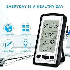 remote outdoor thermometer digital indoor hygrometer alarm