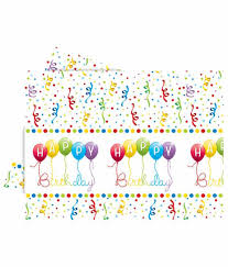 Party Manao Happy Birthday Streamers Plastic Table Cover