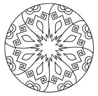kaleidoscope coloring book design