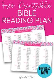 Bible Reading Plan Sarah Titus