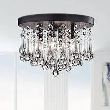 saint mossi crystal raindrop chandelier lighting flush mount led ceiling light