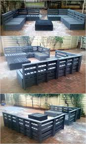 Patio From Pallets Best 25 Pallet Deck Furniture Ideas On Pinterest Sectional