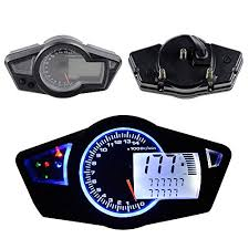 top 15 for best digital speedometer all in one 15000 rpm blue led backlight lcd digital signal motorcycle odometer speedometer tachometer