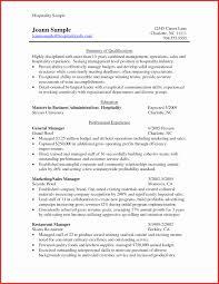 Sample Resume For Hospitality 24 New Sample Resume Hospitality Skills List Resume Writing Tips 16