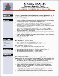 Elementary Teacher Resume Examples Http Www Resumecareer Info