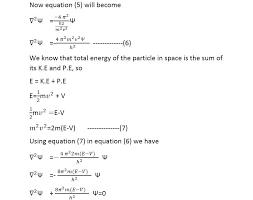 schodinger wave equation derivation