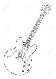 Big guitar outline drawing at getdrawings