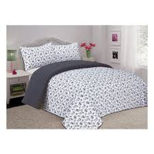 Comfort Bay Reversible Full/Queen Quilted Comforter Set &  Adamdwight.com