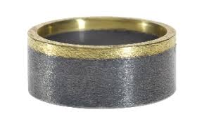 looking for a nice jewelry gift for your boyfriend check out these beautiful todd reed pieces created with recycled metal in two tone hues those rings