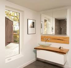 guest bathroom tile ideas. Bathroom For Guest Ideas With White Wooden Floating Bath Vanity Using Brown Top And Round Glass Bowl Gray Ceramic Tiled Flooring As Well Tile