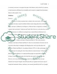 deviant behavior essay research paper example topics and well  deviant behavior essay essay example