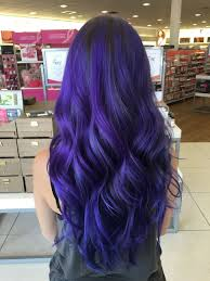 hairstyles ombre hair black to green most amazing indigo purple blue hair done with a