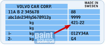 Volvo Touch Up Paint Color Code And Directions For Volvo
